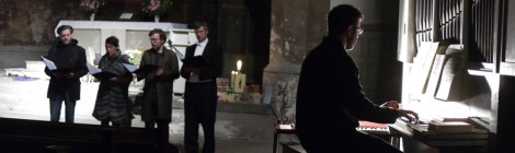 """Flock"" performed in the Zionskirche in Berlin, 2012 as part of the Morgenvogel Festival"
