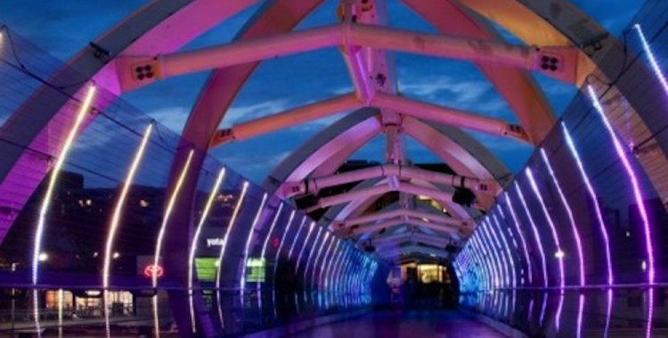 LightBridge – sound & light installation in Toronto (with video)