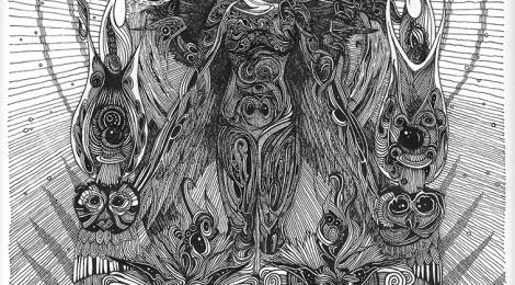 "Queen of the Night. 8.5""x11"", 2014. by John Kameel Farah www.johnfarah.com"