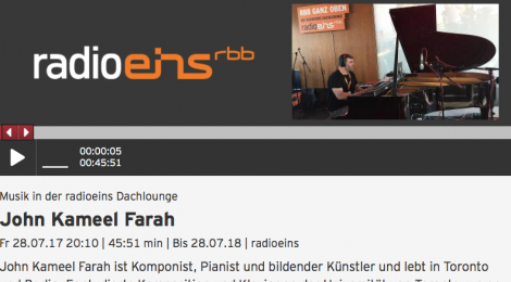 Live Concert Broadcast on Radio Berlin-Brandenburg